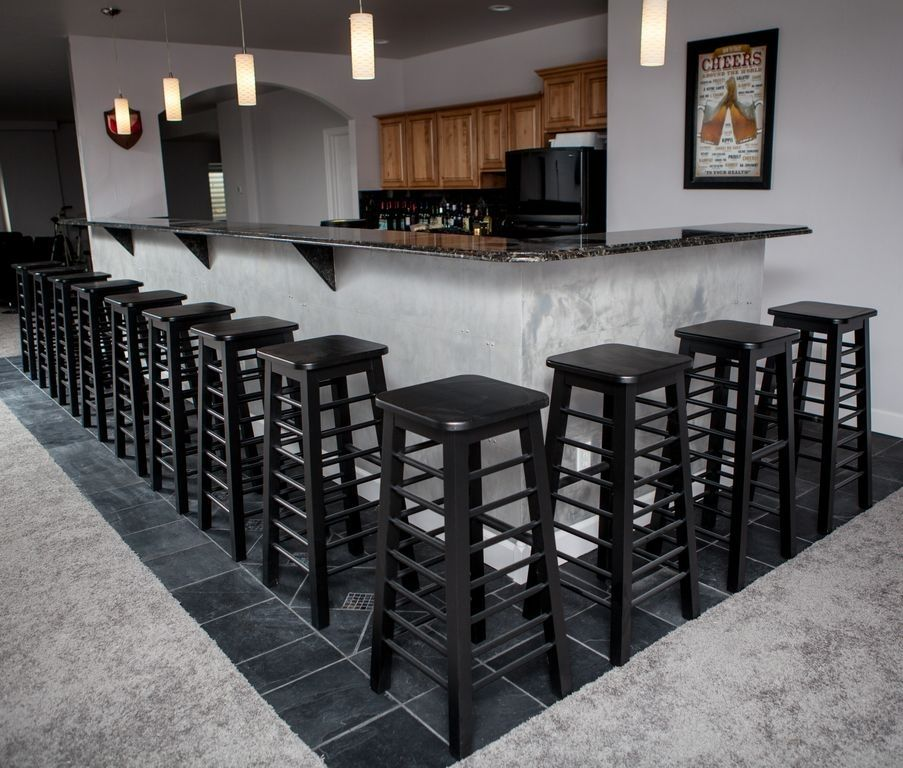 Hand Made Black Modern Bar Stools By Colorado Fine