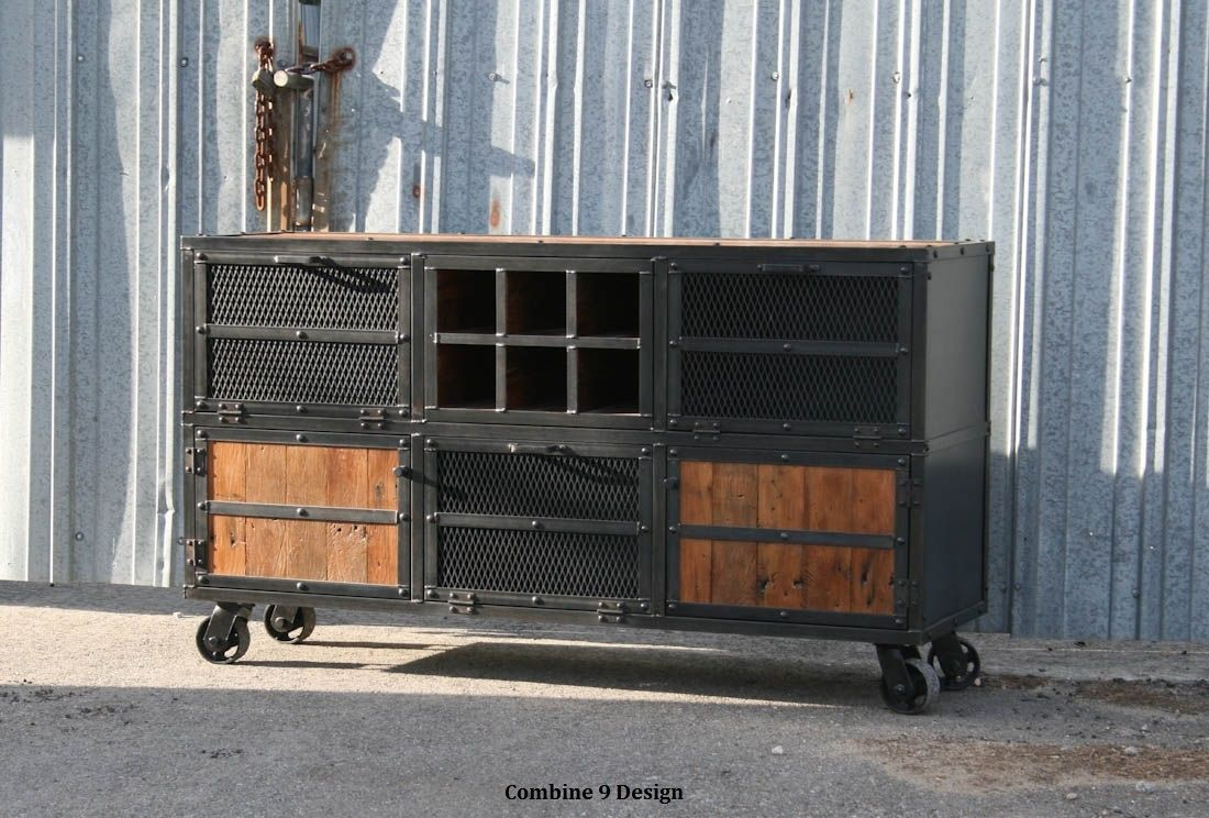 Buy a Hand Made Liquor Cabinet/ Bar Cart. Industrial Reclaimed ...