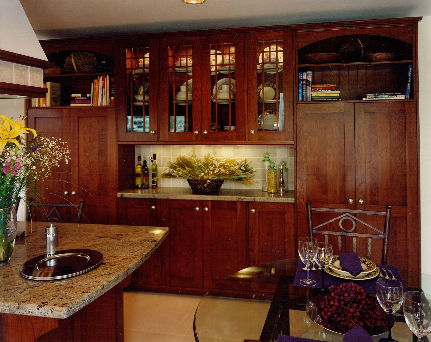 Custom Made Kitchen Cabinets hand made arts & crafts kitchen remodel of cherry woodcabinets