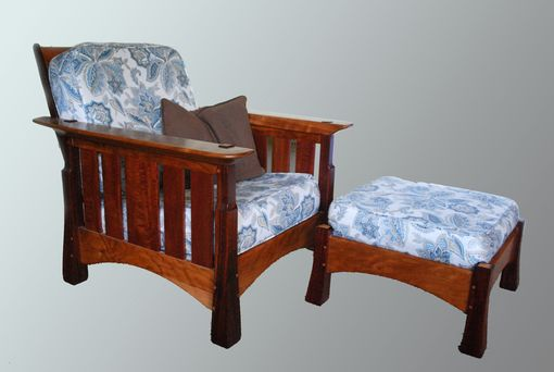 Custom Made Morris Chair And Ottoman