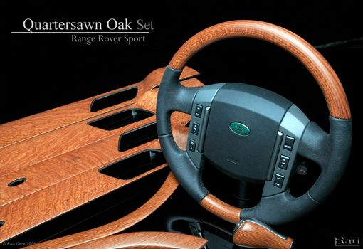 Custom Made Custom Wood And Fiber Weave For Range Rover Sport Vehicles