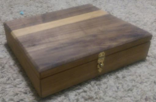 Custom Made Simple Clasping Wooden Keepsake Box