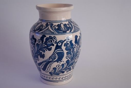 Custom Made Resting Bird Handmade Ceramic Vase