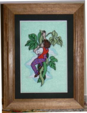 Custom Made Fairy Tale Embroidered Pictures For Baby's Nursery