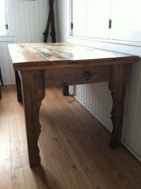 Custom Made Reclaimed Wood Harvest Table