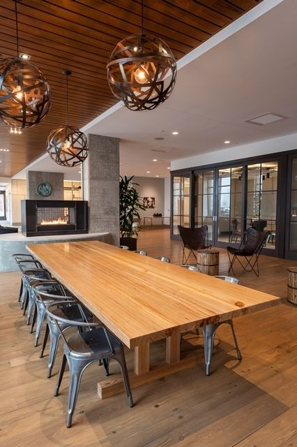 Hand Crafted Communal Dining Table by Infusion Furniture ...