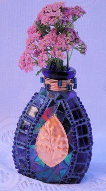 Custom Made Cobalt And Copper Vase
