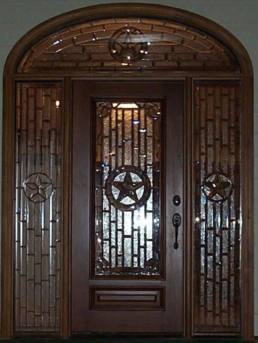 Hand Made Texas Doors By Stained Arts Studio Custommade Com