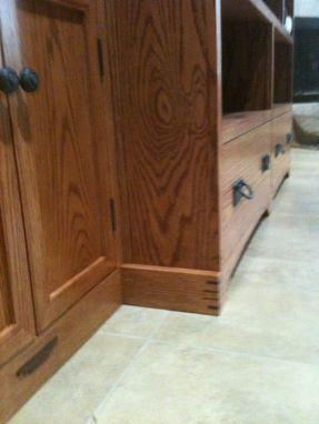 Custom Made Entertainment Center From Oak