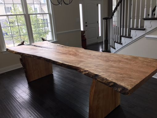 Custom Made Live Edge Dining Table With Live Edge Base