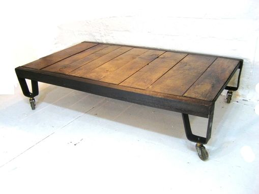 Custom Made Foundry Table With Casters