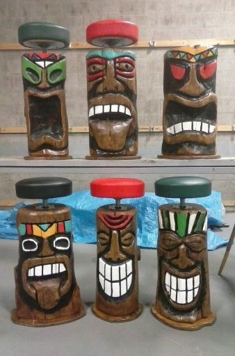 Outstanding Tiki Bar Stool Gmtry Best Dining Table And Chair Ideas Images Gmtryco