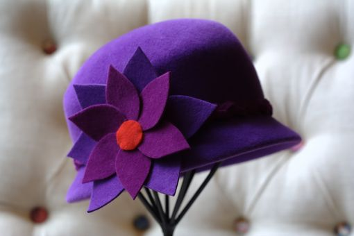 Custom Made Cloche-Style Women's Hat (Purple)