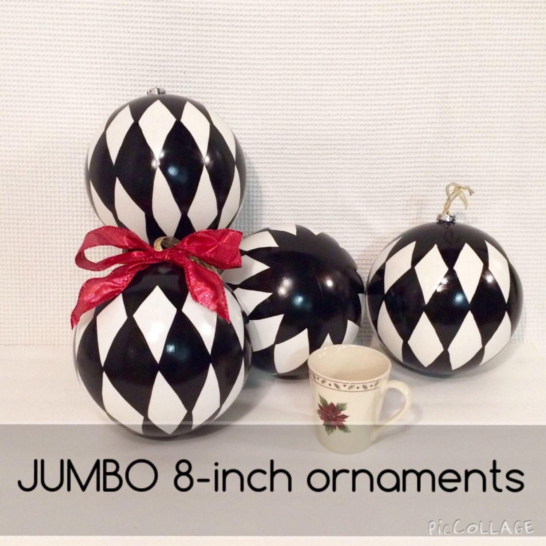 Buy A Hand Made Christmas Tree Ornament Jumbo Harlequin Ornament