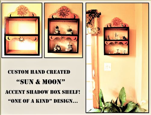 Custom Made Custom Shelves,Wall Shelf, Display Shelf, Shadow Box Shelf,Sun And Moon Wall Art,Shelves,Spice Rack