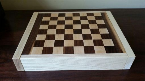 Custom Made Walnut And Ash Chess Board