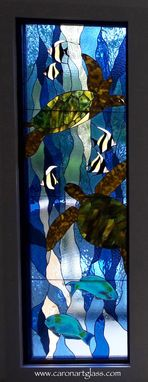Custom Made Stained Glass Side Light Windows - Honu Serenade