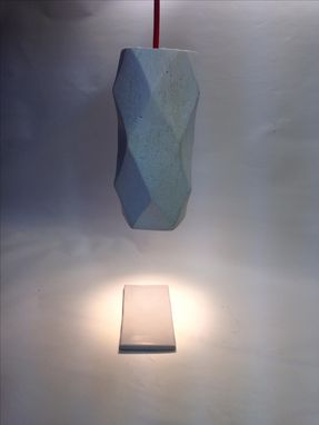 Custom Made Concrete Geo Shape Light Pendant - Modern Minimalist Industrial Geometric