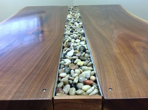 Custom Made Walnut Live Edge Slab Conference Table