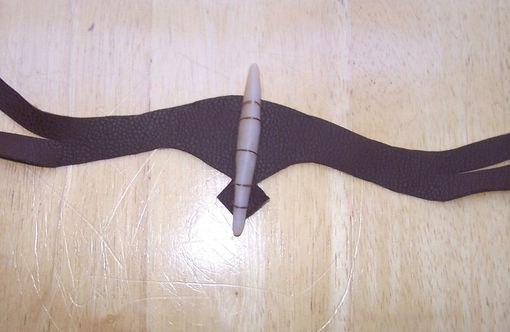Custom Made Headpiece - Neytiri Avatar Costume Halloween Headband - Black Leather