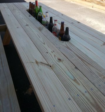 Custom Made Picnic Table With Built In Wine Chiller !