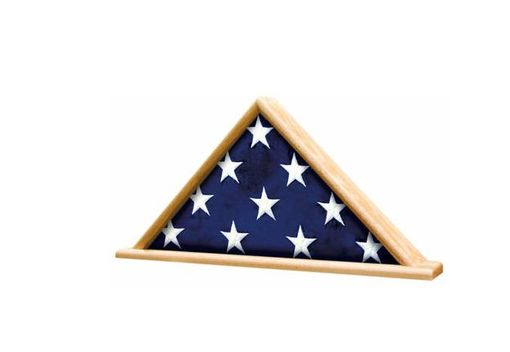Custom Made Ceremonial Flag Display Triangle