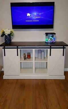 Custom Made Farm Style Entertainment Center