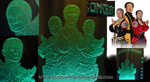 Custom Made Custom Carved Glass--Portraits