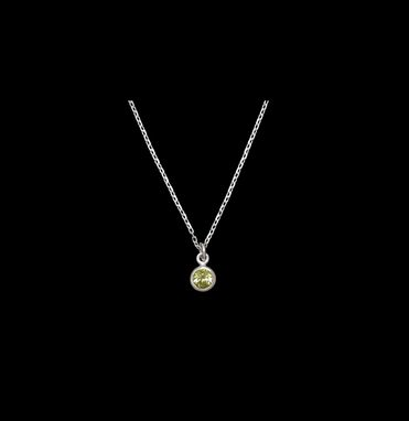 Custom Made Peridot Pendant And Chain