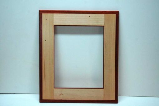 Custom Made Maple And Padauk Wall Frame