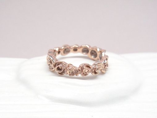 Custom Made Full Rose Ring - 14k Rose Gold - Size 7.5 Ready To Ship