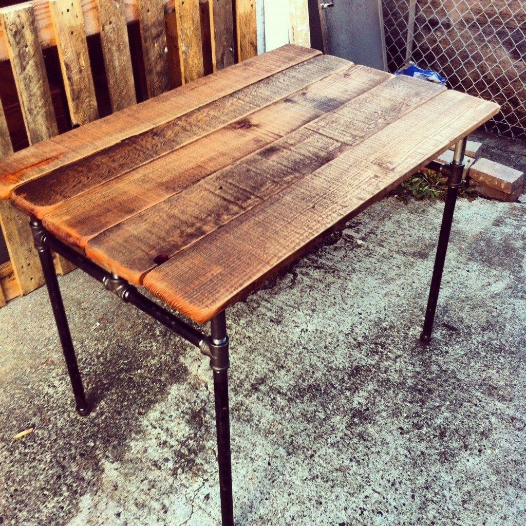 Handmade Custom Sized Industrial Pipe Desk By J Amp S