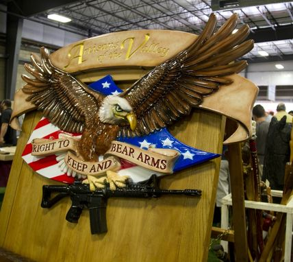"Custom Made ""Right To Bear Arms Eagle"" - Custom Precision Carved Signs"