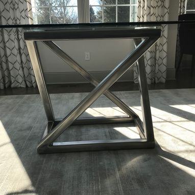 Custom Made Stainless Steel Dining Table Pedestal Base