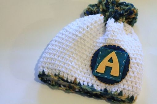 Custom Made Personalized Baby Hat, Baby Beanie, Initials, Monogram, Baby Gift, Photo Prop