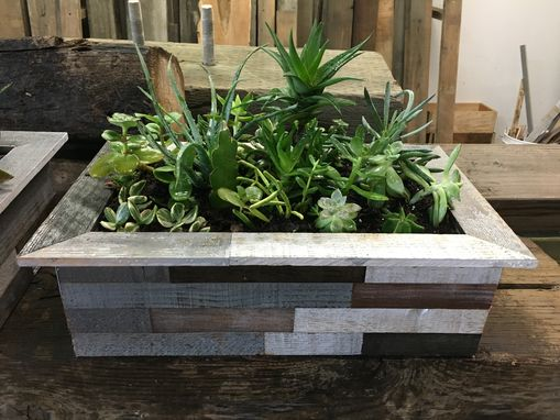 Custom Made Large Reclaimed Wood Planter/Succulent/Herb Box