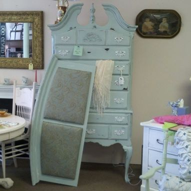 Custom Made French County Bedroom Furniture Shabby Chic Upholstery Painted