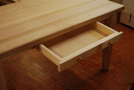 Custom Made A Table Using An Existing Butcher Block Top.