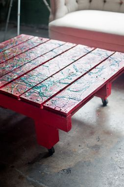 Custom Made Splatter Pallet Coffee Table
