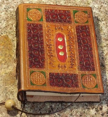 Custom Made Handcrafted Leather Journal  With A Medieval Appearance
