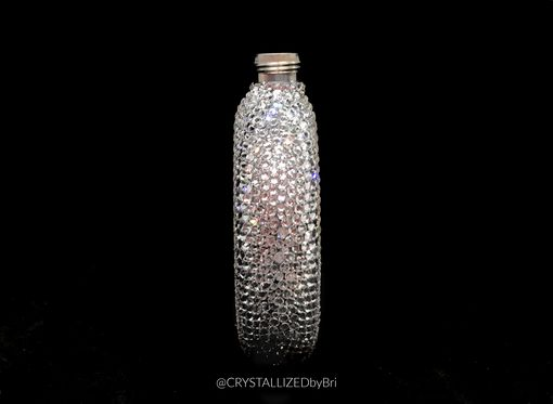Custom Made Crystallized Flask Alcohol Container Round Bar Bling Swarovski Crystals Bedazzled