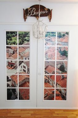 Custom Made Tuscan Windowscape French Door Wall Decals