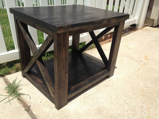 Custom Made X Brace Side Table
