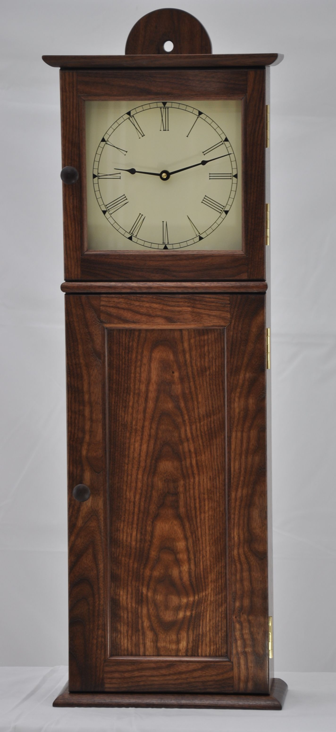 Buy a handmade shaker wall clock in figured walnut made to order buy a handmade shaker wall clock in figured walnut made to order from winding river workshop custommade amipublicfo Image collections
