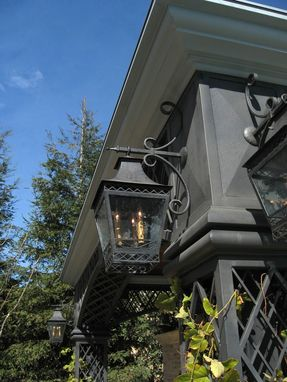 Custom Made Custom Wrought Iron Bracket Lantern