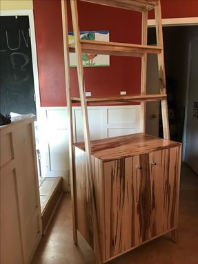 Custom Made Solid Ambrosia Maple Storage Cabinet And Bookcase
