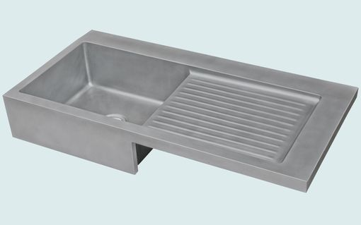 Custom Made Zinc Sink With Apron & Ribbed Drainboard