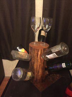 Custom Made Wine Rack Tree 8 Bottle