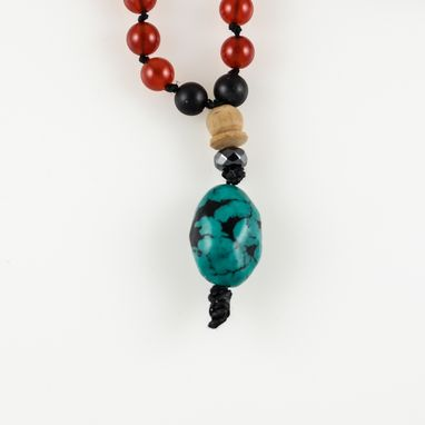 Custom Made Necklace Johoti Mala Tibetan Turquoise Stone Pendant