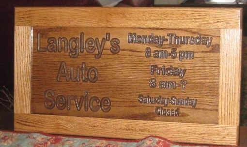 Custom Made Auto Service Sign